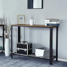 Entrance table Console Table Side Table Sideboards for Living Room Corridor Entryway Table Furniture Wood Desktop Metal Frame american country wrought iron wood console table desk side table living room entrance metal crafts