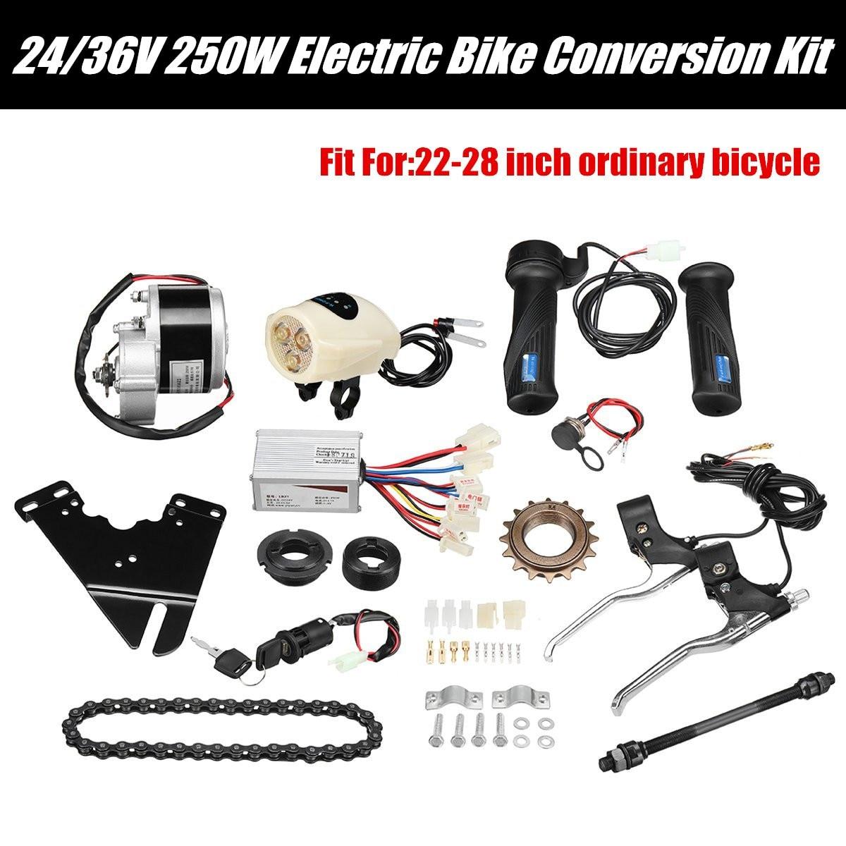 250W 24V DC Regulator napędu sterownik silnika rower elektryczny zestaw do zamiany na rower elektryczny akcesoria do 22-28 rower elektryczny e-bike