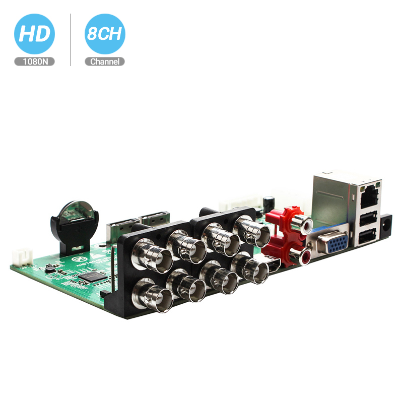BESDER 5 In 1 AHD CVI TVI IP CVBS 8CH CCTV DVR Mini 1080N 8CH Playback 12fps 1 SATA HDD Port ONVIF Surveillance Video Recorder