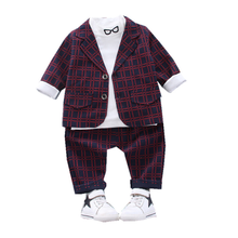 Children Gentleman Clothes New Spring Autumn Kids Boys Girl Suit T Shirt Pants 2Pcs/sets Baby Toddler Clothing Infant Sportswear 2017 boys clothing sets autumn spring shirt vest pants children wedding clothes kids gentleman leisure handsome blouse suit