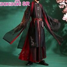 DokiDoki SR Dao מו שי קוספליי ווי וו שיאן Cosplay תלבושות גברים ווי Wuxian Mo Dao Zu שי קוספליי