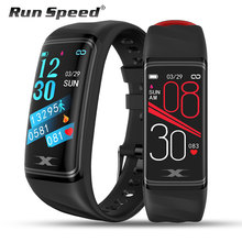 Braccialetto intelligente IP68 Impermeabile da 1.14 pollici di Smart Banda Heart Rate Monitor della Pressione Arteriosa Pedometro Fitness Traker Intelligente Wristband
