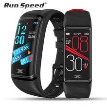 Pulsera inteligente IP68 de 1,14 pulgadas, reloj inteligente deportivo resistente al agua con control del ritmo cardíaco y de la presión sanguínea, contador de pasos