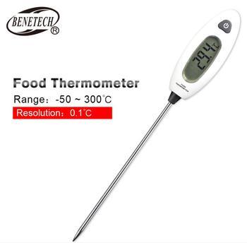 Gm1311 termometr do żywności sonda pomiar temperatury gospodarstwa domowego pieczenie w kuchni grill termometr do gotowania domowego tanie i dobre opinie BENETECH Czujnik temperatury CN (pochodzenie) DIGITAL Gospodarstwo domowe bateria pastylkowa Handheld