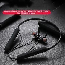 Wireless Bluetooth 5.0 Earphone Built in Microphone Neck Mounted Headsets Sport Headphones With Supper High Capacity Battery New
