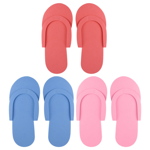 rosenice 36 pares de espuma descartavel chinelos de alta qualidade espuma pedicure slippers para salao
