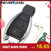2 Buttons Keyless Entry Remote Car Key 433 MHz Key Shell Replacement Case for Mercedes BENZ 2000+ with NEC&BGA D25