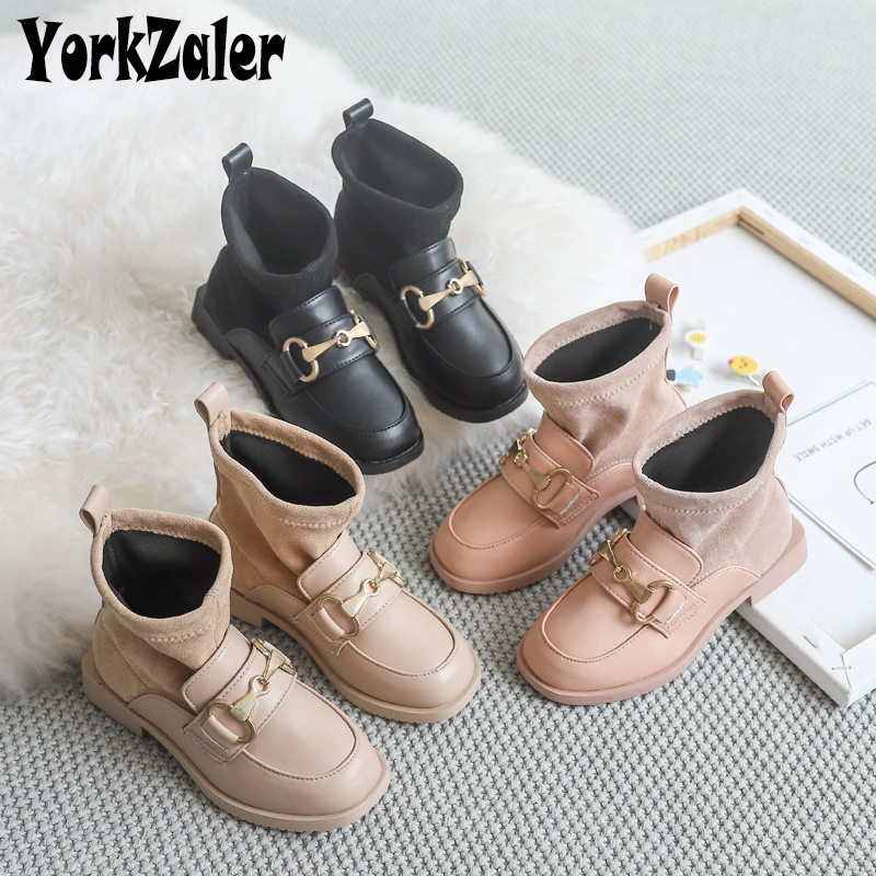 Yorkzaler Autumn Winter Party Kids Boots For Girls PU Leather Waterproof Non-slip Casual Children Boots Baby Footwear Size 26-30