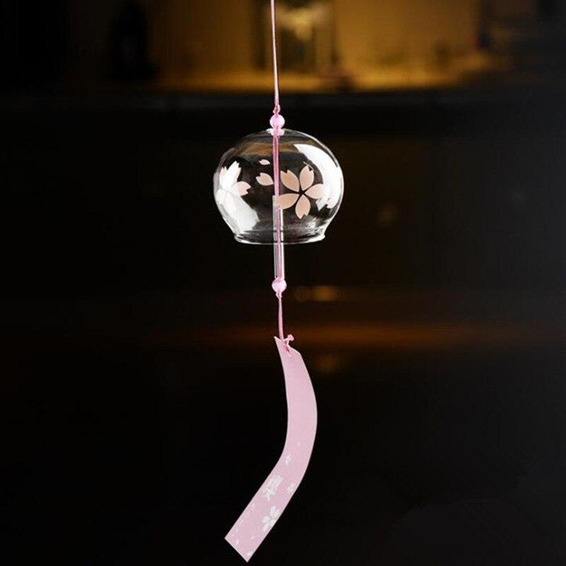 100 штук упак. 7*6 см стеклянный Windchime друг диаметр подарка = 7 см Высота = 6 см висячий стеклянный Windchime домашний декоративный стеклянный колокол