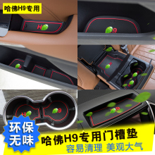 Door Groove Storage Slot Mat Protective Pad Interior Refit Anti-slip Mat For Haval H9 pebble series flannel printing home anti slip absorbent entry mat bathroom mat door mat bedside mat