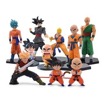 10 Styles Dragon Ball Z Son Goku Kuririn Trunks Tien Shinhan Saiyaman PVC Action Figure Collectible Model Toy Doll hot sale new dark souls faraam knight artorias pvc figure collectible model toy 2 styles
