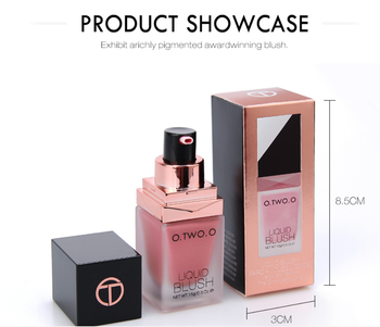 O.TWO.O Makeup Face Liquid Blusher Waterproof Long Lasting Lip liquid Natural Cheek Face Base Contour Blush Makeup 1