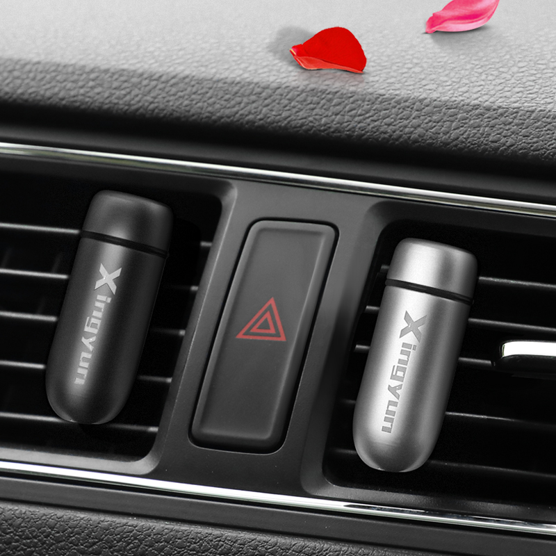 New Car Perfume Clip Diffuser Air Freshener Air Outlet Zinc alloy Lemon Cologne Smell Stick Wick Auto Interior Scent Perfumes
