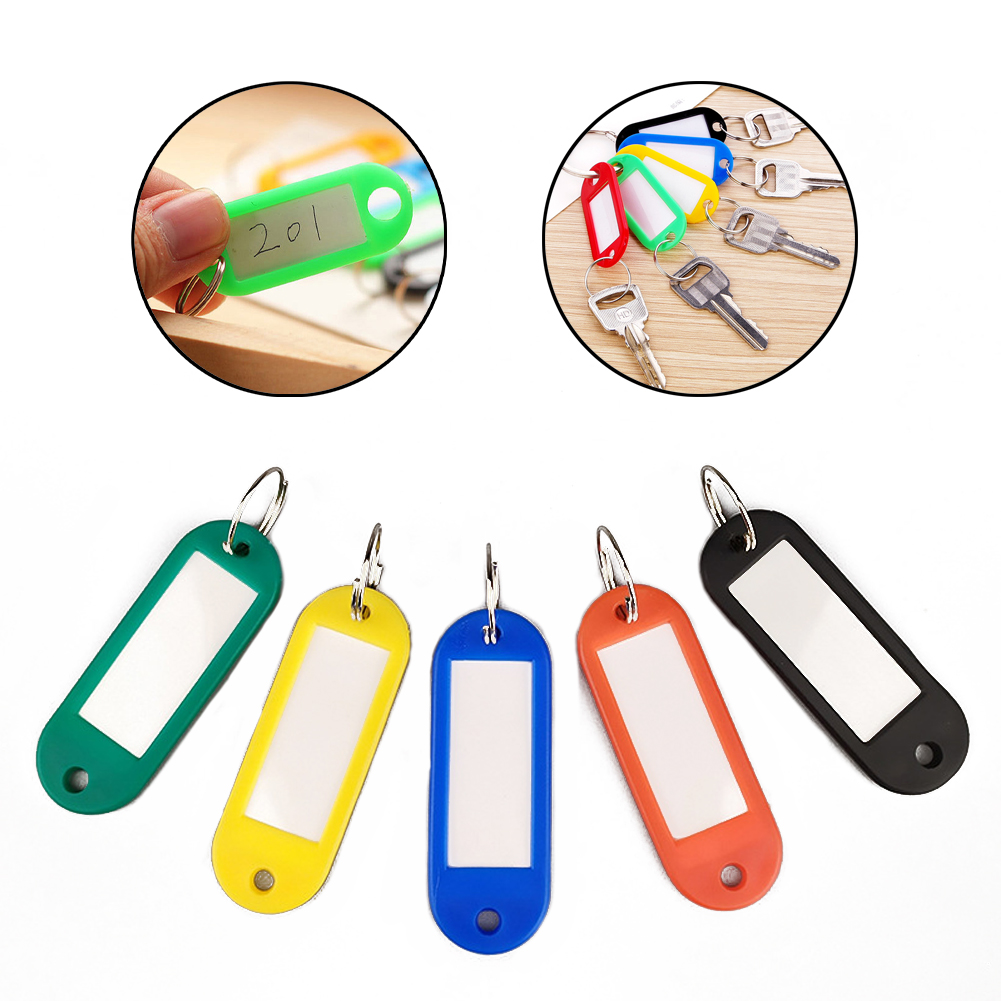 Durability Various Colors Rich And Lovely Plastic Material Key Card Classification Mark Card Luggage Tag Accessories Keychain