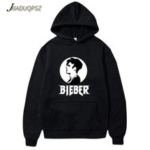 Justin Bieber Poster Hip Hop sweat homme Hoodie Hooded Man Letters Justin Bieber Purpose Tour Streetwear Gray Black Pink Hoodies(China)