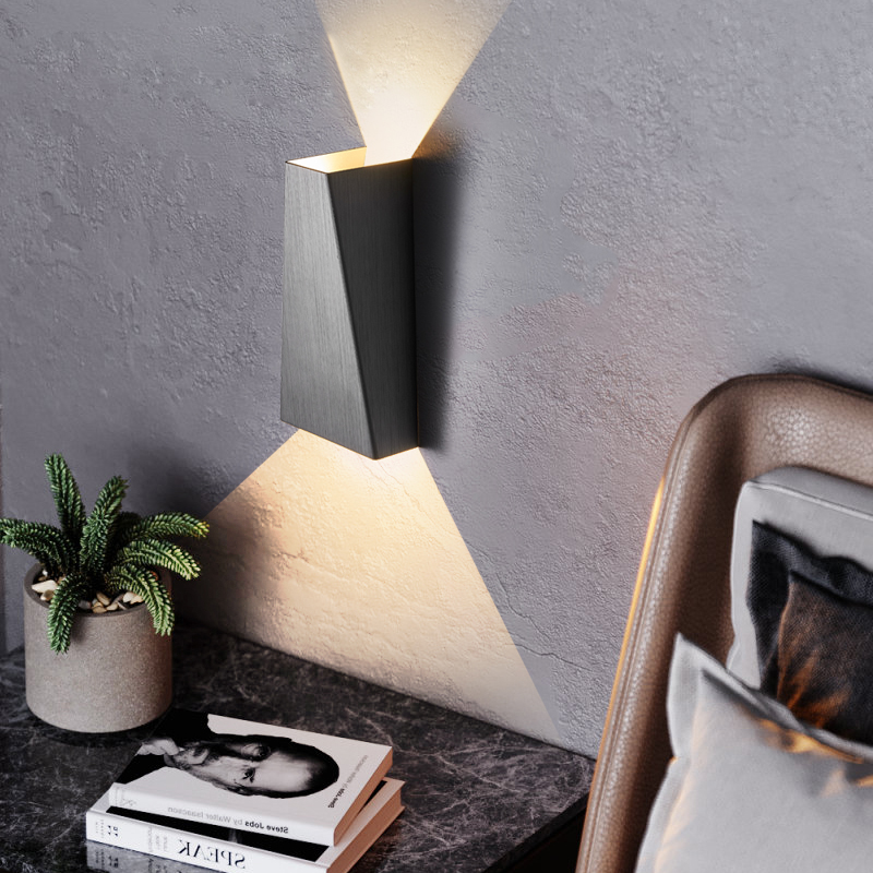 Creative Geometric LED Wall Light Modern Bedside Wall Lamp minimalist Background Staircase Aisle Corridor Wall Sconce