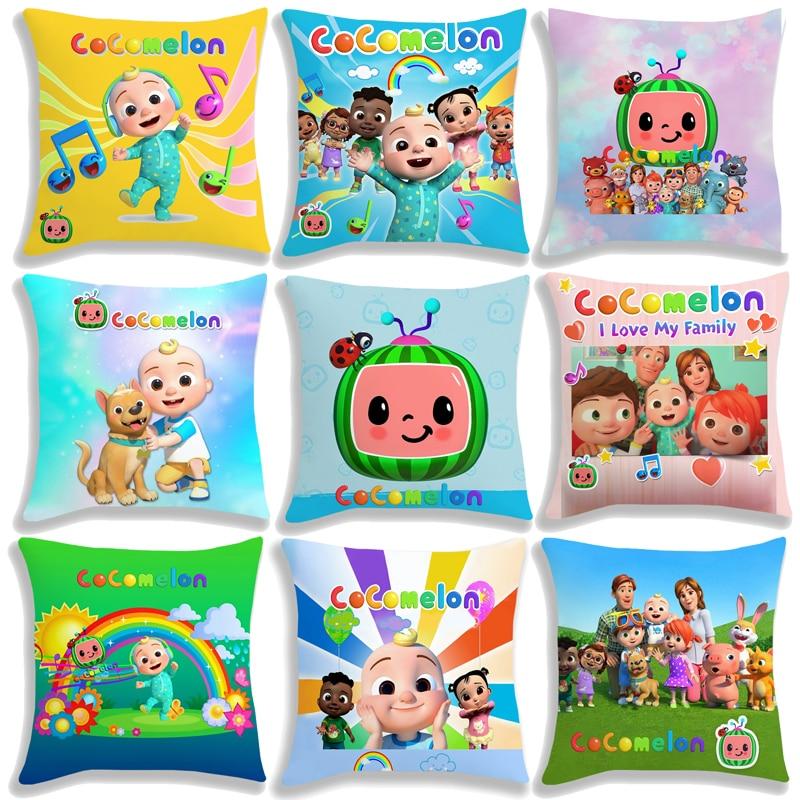 Новое поступление, детская подушка Cocomelon, Чехол 45 см, Детские милые Мультяшные Аниме Игрушки для мальчиков и девочек, подушка в подарок не вх...