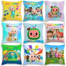 Yeni varış çocuk Cocomelon yastık kılıfı 45CM çocuklar sevimli karikatür Anime oyuncaklar erkek kız hediye yastık iç değil dahil