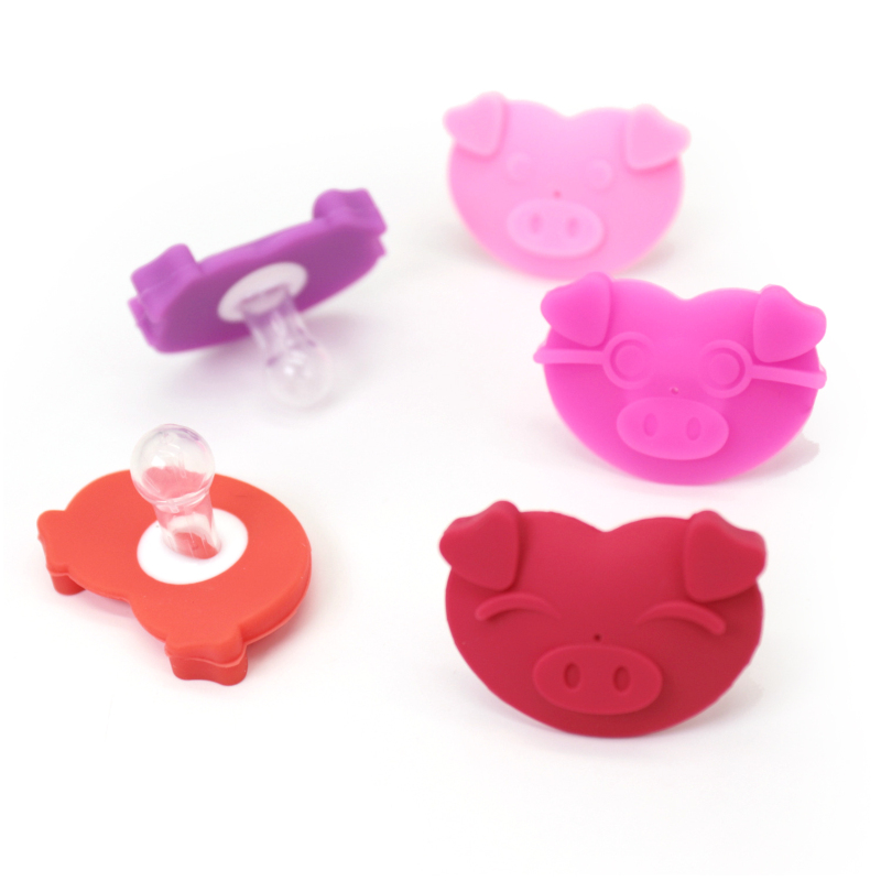 Cute Baby Care Pacifiers Food Grade Silicone Nipple Teethers Pig Nose Silicone Nipple For Children Infant Pacifiers Funny Toys