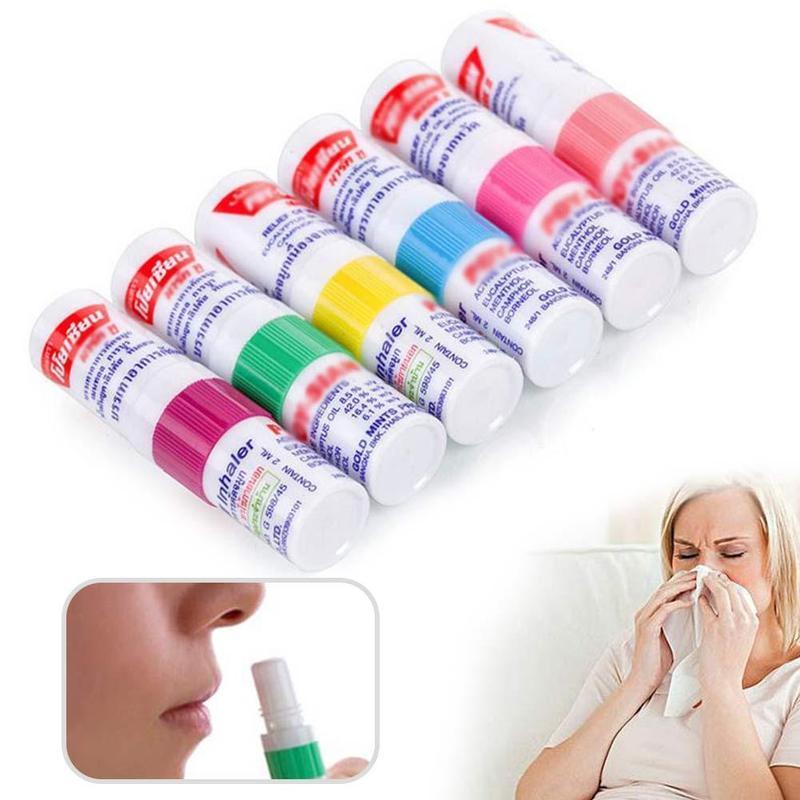Thailand Mint Herbal Nasal Inhaler Stick Tube Cylinder Essential Oil Nasal Inhaler Asthma Refreshing Aroma Oil Stick Health Care