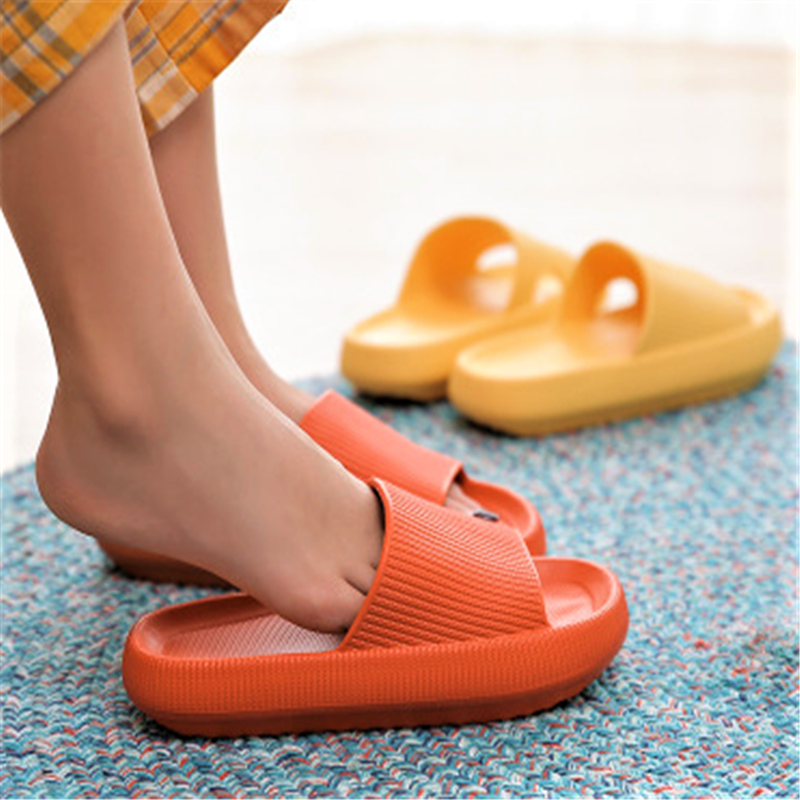 Thick Platform Slippers Women Indoor Bathroom Slipper Soft EVA Anti-slip Home Slippers Women 2020 Summer Shoesred Red Sandals