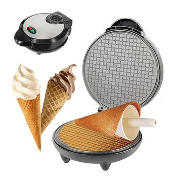 Household Breakfast Egg Roll Machine Electric Baking Pan Baking Machine Waffle Cone Maker Homemade Ice Cream Cone Machine stainless steel electric waffle maker commercial single head ice cream cone baker machine waffle cone egg roll making machine
