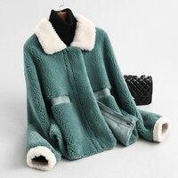 Wool Jacket Autumn Winter Coat Women Clothes 2020 Korean Vintage Real Fur Coat Sheep Shearling Women Tops Abrigo Mujer KQN59370