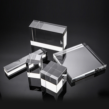 Super Clear K9 Glass Lens Cube Transparent Crystal Optical Photography Display Cuboid Prism Light X Cube