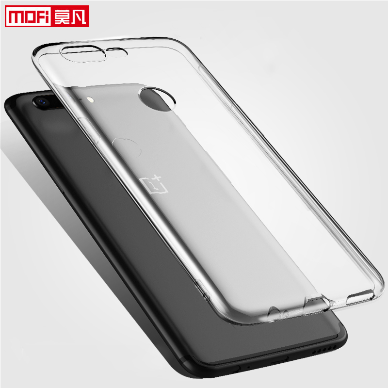 clear case for oneplus 5t case OnePlus tpu A5010 cover soft silicon ultra thin funda Mofi Transparent Back Coque OnePlus 5T Case