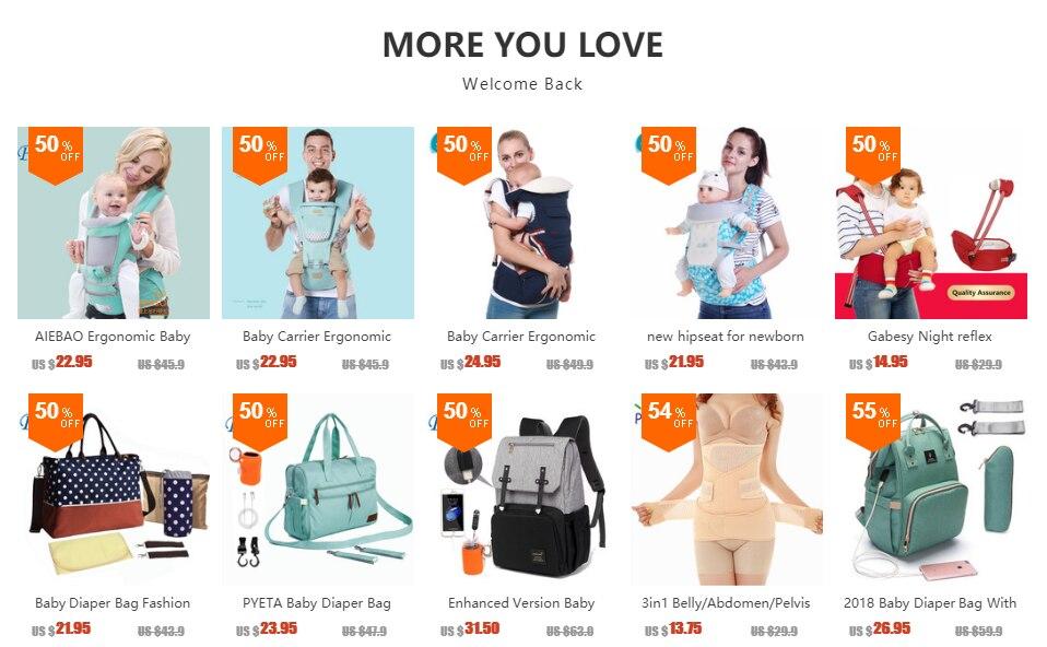 H750b55f277bb4d37be94e10f02aa6fedB Diaper Bag For Baby Stuff Nappy Bag Stroller Organizer Baby Bag For Mom Travel Hanging Carriage Pram Buggy Cart Bottle Bag