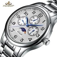 AESOP Man Fashion Watch Men Luxury Week Sapphire Crystal Men's Quartz Wrist Wristwatch Male Clock Men Watches Relogio Masculino