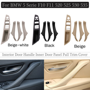 4/7PCS Car ABS Plastic Inner Door Armrest Panel Handle Pull Trim Cover For BMW 5 serie F10 F11 525d 530i 535d 550i 51417225858 image
