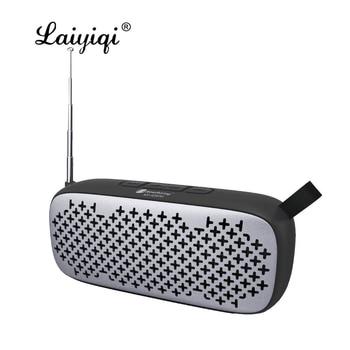 Laiyiqi-Altavoces bluetooth con radio FM, cinturón de cuero portátil, USB, manos libres,...