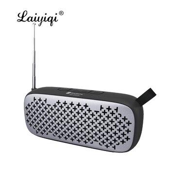 Laiyiqi più nuovo BT altoparlanti altavoz bluetooth con radio FM portatile cinghia di cuoio USB Handfree chiamata bafles de sonido caixa f5 ventilatore