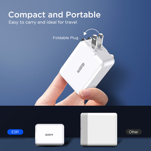 Image 4 - ESR USB C Fast Charger 18W Wall Plug Travel Quick Type C Type c PD Charger for iPad iPhone 11 X XR XS Max EU US UK Wall Charger