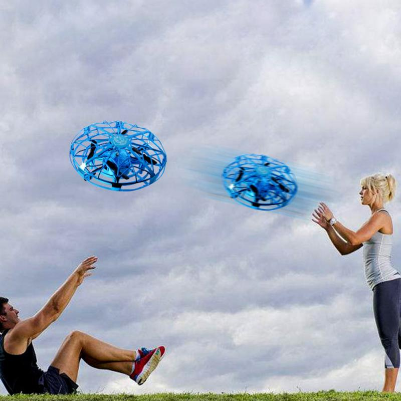 Mini Drone Flying Helicopter Anti-collision Magic Hand UFO Ball Four Axis Aircraft Sensing Induction Kids Electric Electronic