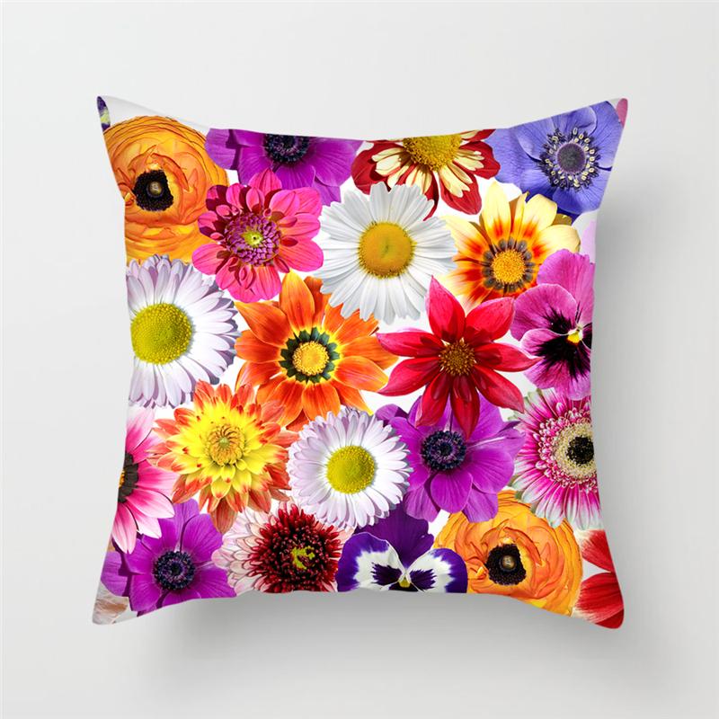 Nanacoba чехлы на подушки с цветком хризантемы Лавандовая Подушка