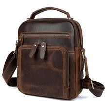 Мужская кожаная сумка через плечо винтажные сумки мессенджеры
