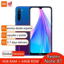 """Globale Versione Xiaomi Redmi Nota 8T 4GB 64GB Smartphone Snapdragon 665 Octa Core 48MP Quad Camera 6.3 """"FHD Schermo del telefono Cellulare"""