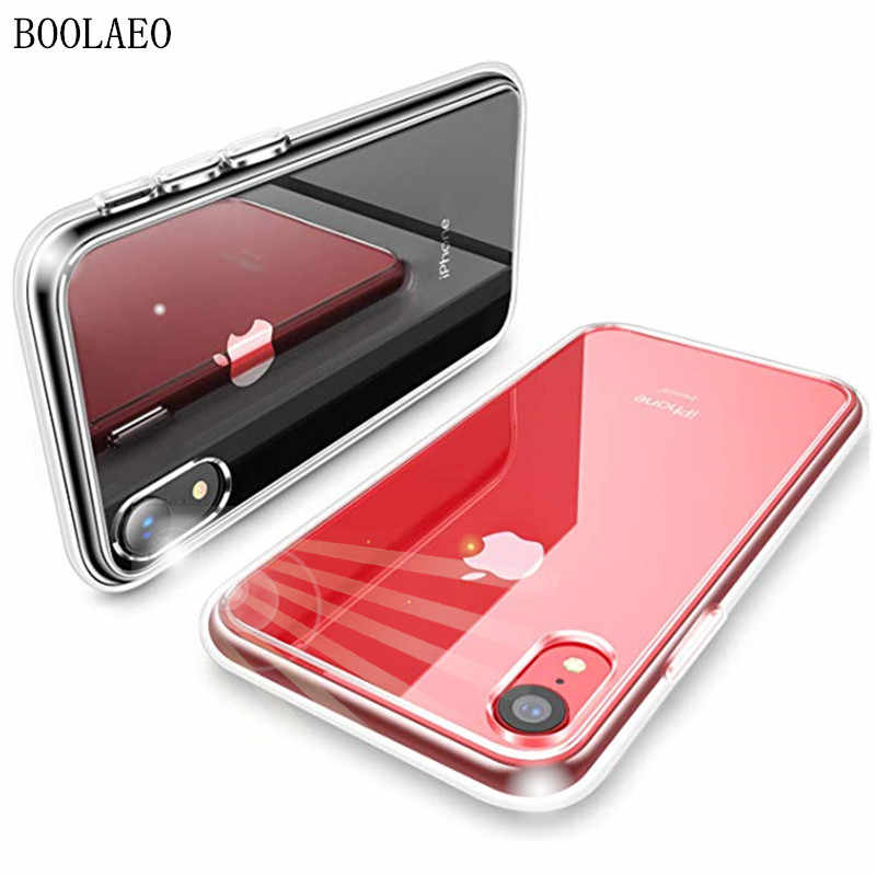 Luxe Clear Case Voor iPhone 11 pro XS Max Ultra Dunne Slim Soft TPU Siliconen Cover Case op iPhone XR X 8 7 6s 6 Plus Coque Funda