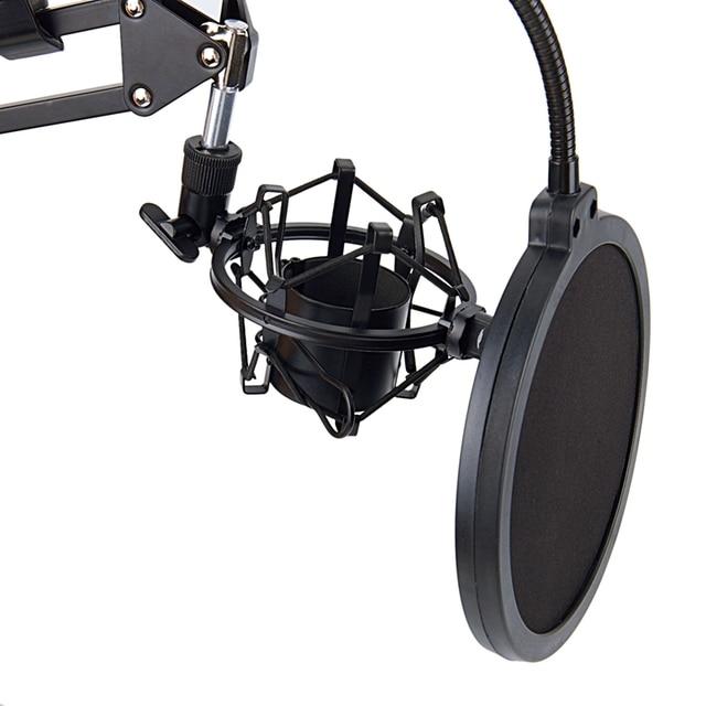 Фото микрофон ножничный стенд и настольный монтажный зажим & nw фильтр цена