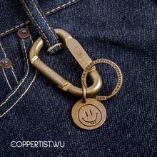 Porta chaves pingente de porta chaves coppertist.wu abertura rápida fecho de latão decorativo padrão mosquetão lagosta garra gancho