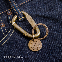 coppertist.wu Quick opening Clasp Brass Decorative pattern CARABINER Lobster Claw Hook Keyring Key Chain Keychain Pendant