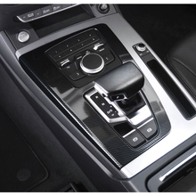 1pc car gear shift panel sticker automotive car carbon fiber styling decorative durable decal for audi a4l q5 a5 For Audi Q5 2018 Carbon Fiber Style Console Inner Gear Shift Box Sequins Cover Trim Stall Decoration Strip Sticker Car Styling