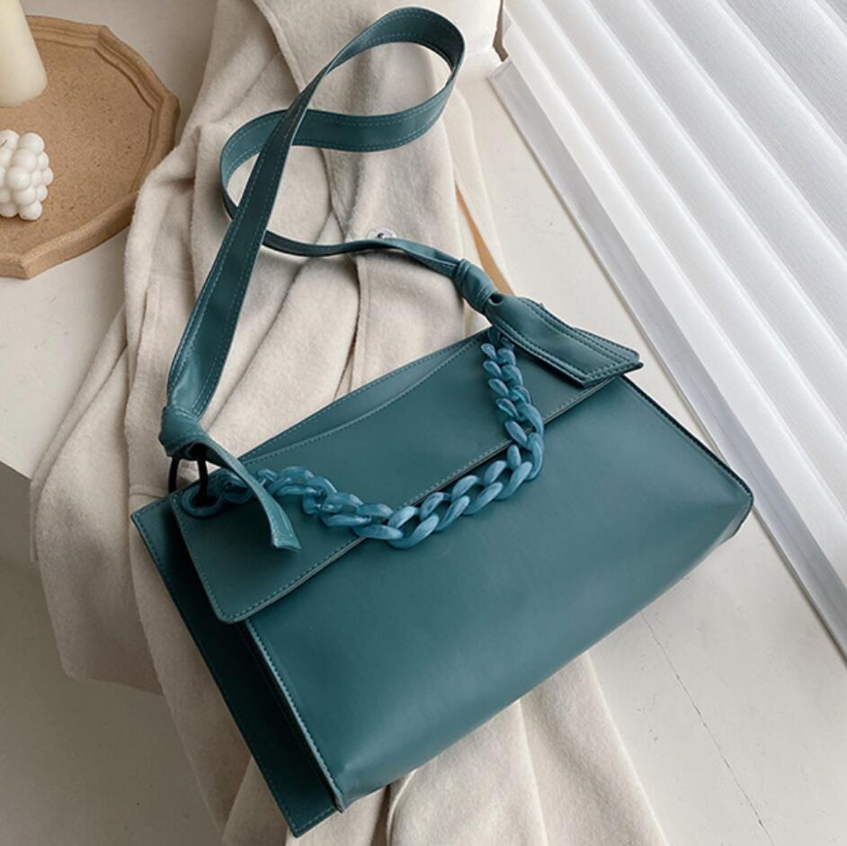 European Fashion Large Chain Tote Bag 2019 New Quality PU Leather Women's Designer Handbag High Capacity Shoulder Messenger Bags