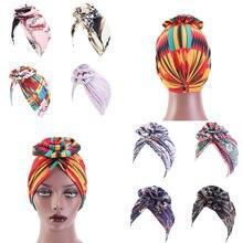 Turban africain à fleurs pour femmes, foulard musulman, couvre-chef, chimio, bandana, accessoires pour cheveux, nouvelle mode