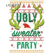цена на Ugly Sweater Party Christmas Festivals Winter Snow Poster Pattern Portrait Photo Backgrounds Photography Backdrop Photo Studio
