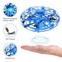 Mini elicottero RC UFO Drone Aircraft Hand Sensing infrarossi RC Quadcopter induzione elettrica Flying Ball Plane giocattoli per bambini