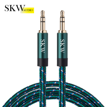 Get more info on the SKW Aux Cable Jack 3.5MM To 3.5MM Audio Cable  Jack Speaker Cable For iPhone Computer Car Speaker For iPad For Huawei Xiaomi