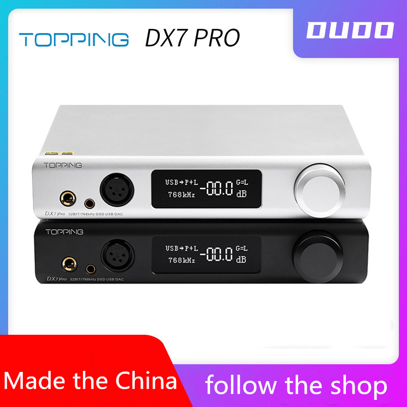 TOPPING DX7 Pro ES9038Pro DAC & Headphone amp Bluetooth 5.0 32BIT/768kHz DSD1024 DX7PRO Wireless Decoder Headphone Amplifier image